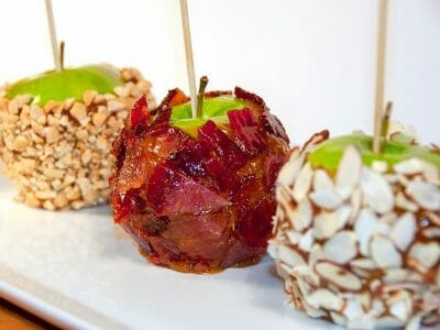 Candied Bacon Caramel Apples
