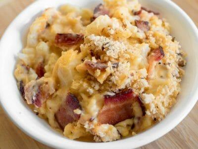 Cheesy Cauliflower Gratin with Cloverdale Bacon