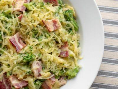 Cloverdale Bacon Garlic Spaghetti Squash