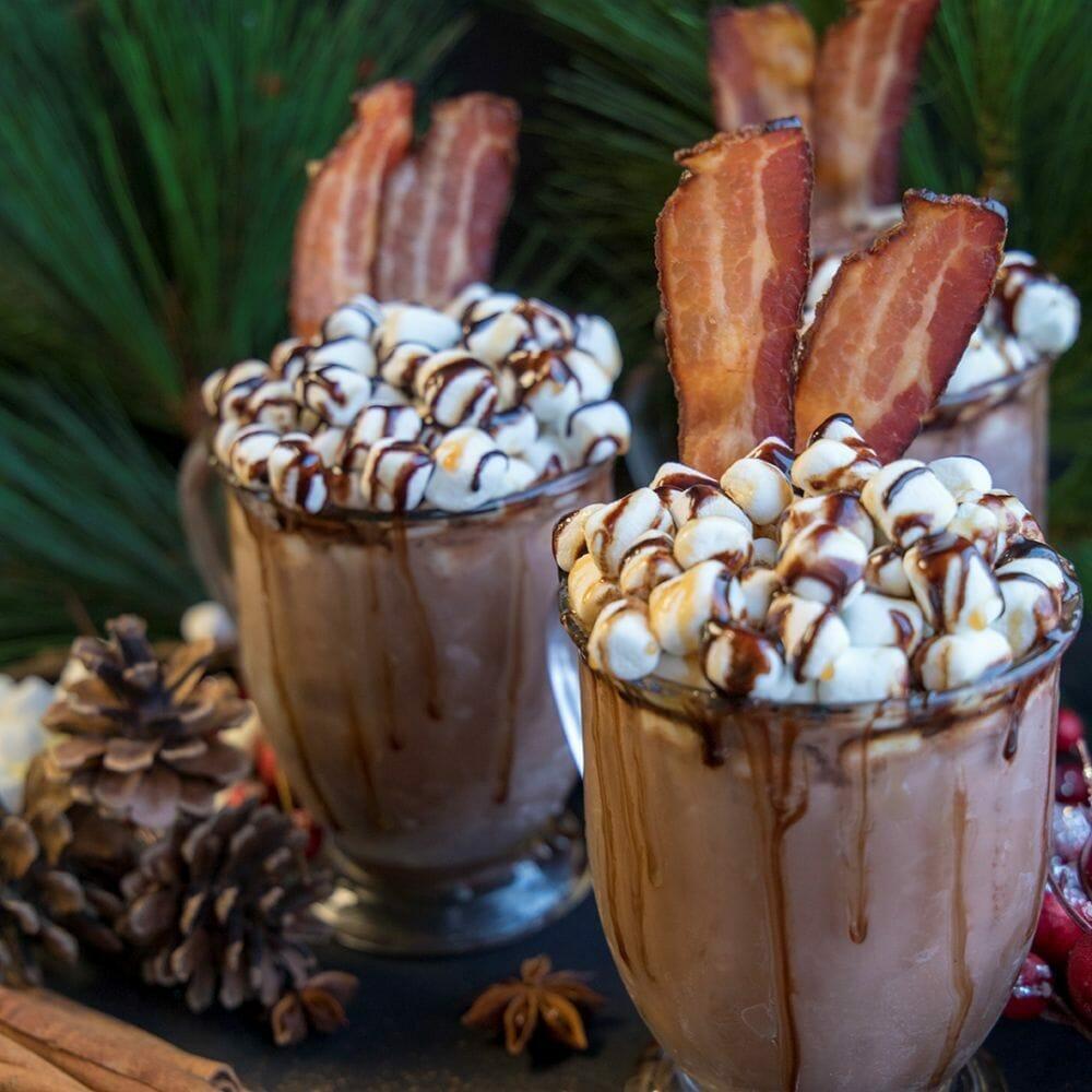 Kahlua Hot Chocolate with Cloverdale Bacon