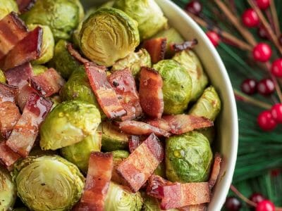 Maple Brussels Sprouts with Cloverdale Bacon