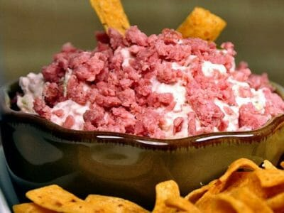 Tangy Summer Sausage Dill Pickle Dip